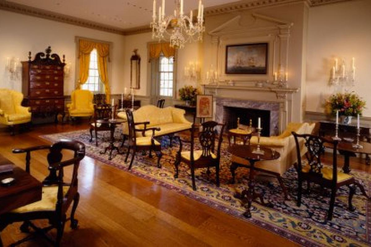 photo of Port Royal Parlor room display at Winterthur Museum, Garden & Library