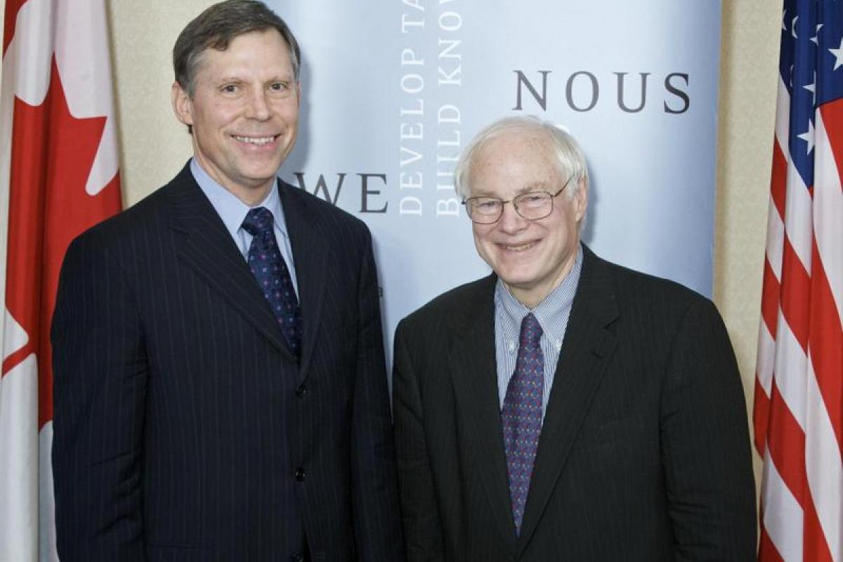 NEH Chairman Leach with SSHRC President Chad Gaffield