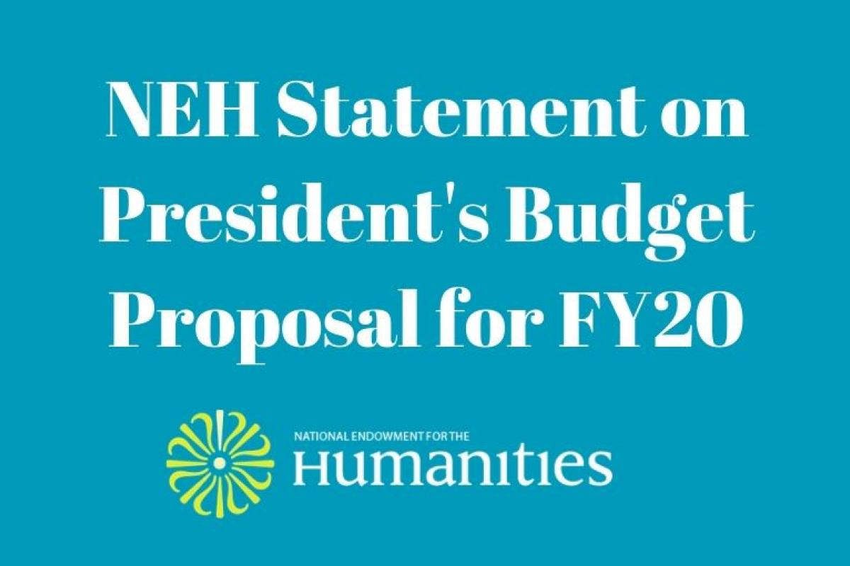 NEH FY2020 budget graphic