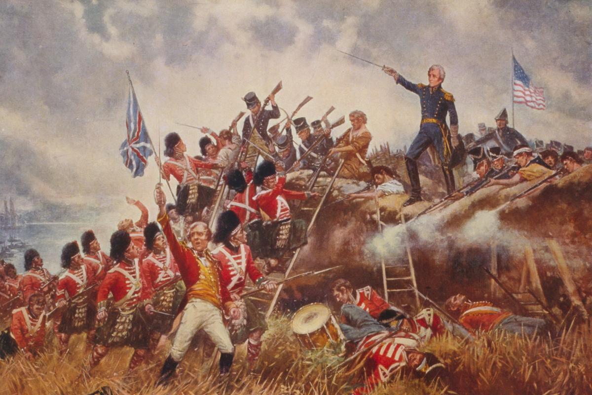 1910 painting by Edward Percy Moran of Battle of New Orleans