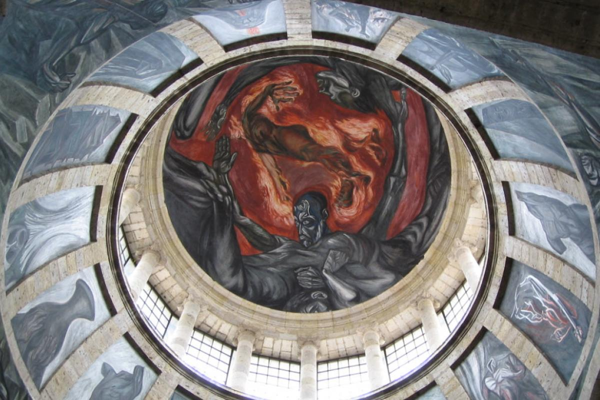 Man of Fire by Jose Clemente Orozco.