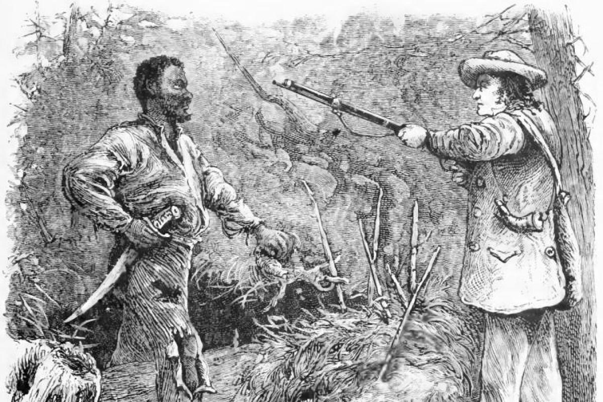 Discovery of Nat Turner, wood engraving