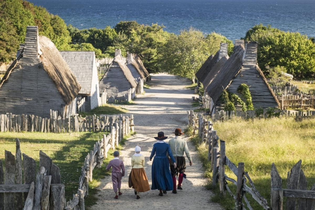 17th Century English Village in Plimoth.