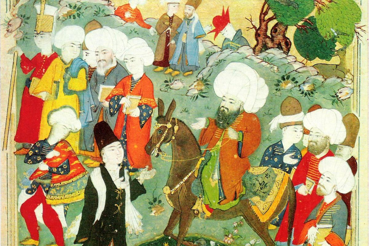 Meeting of Jalal al-Din Rumi and Molla Shams al-Din.
