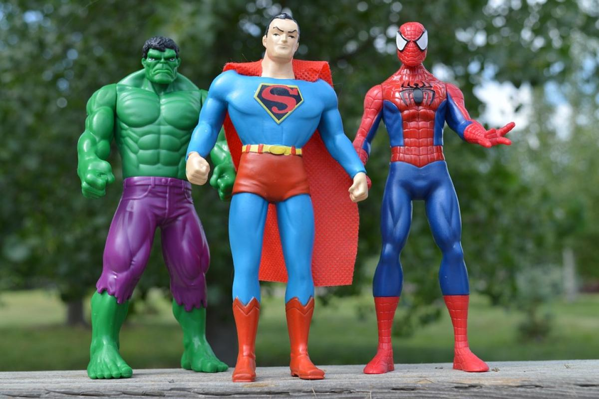 The Hulk, Superman and Spiderman.