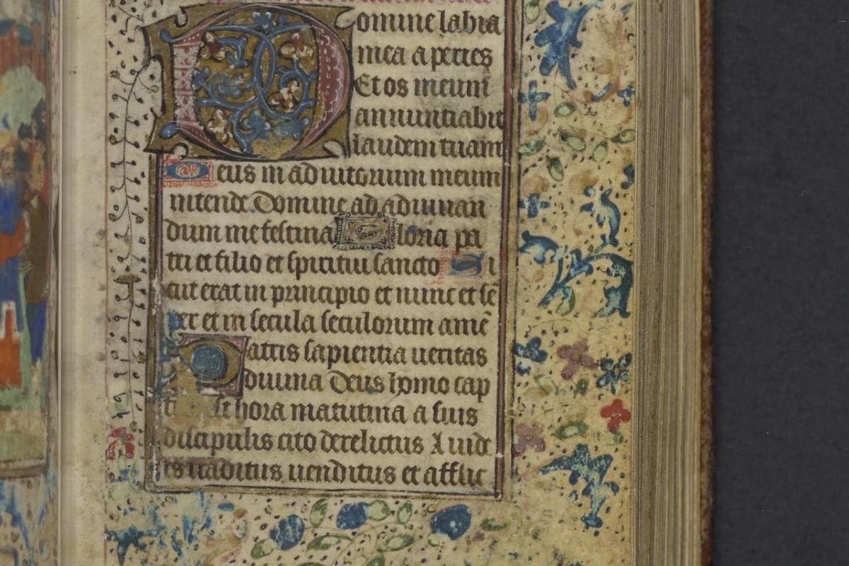 This image, from Lewis E 105 Book of Hours, Use of Rome, resides in the collection of the Free Library of Philadelphia.