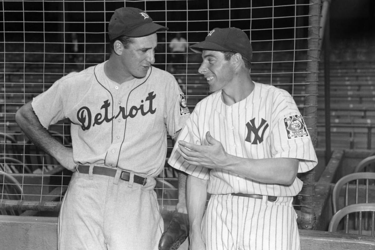 Hank Greenberg and Joe DiMaggio at Yankee Stadium, September 1939.