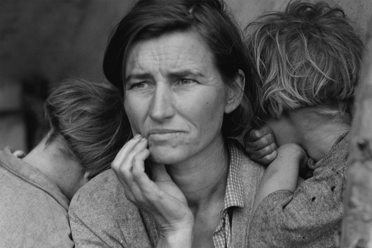 "Dorothea Lange, ""The Migrant Mother."""