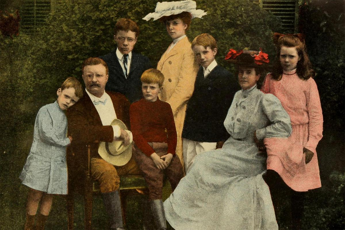 President Theodore Roosevelt with his family, 1903