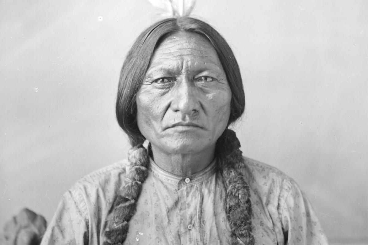 Sitting Bull portrait by D. F. Barry, 1883.