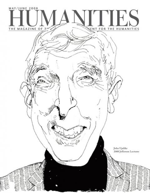 Caricature of John Updike