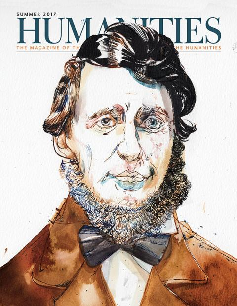 Illustration of Henry David Thoreau