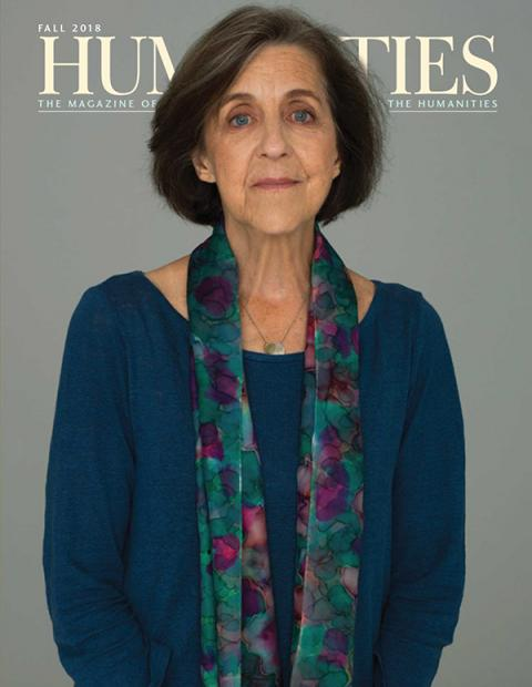 Fall 2018 cover of Humanities, Rita Charon