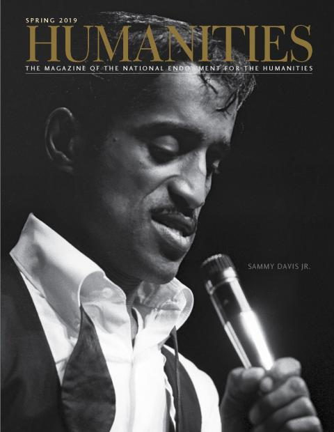 Sammy Davis Jr. on the cover of Humanities magazine