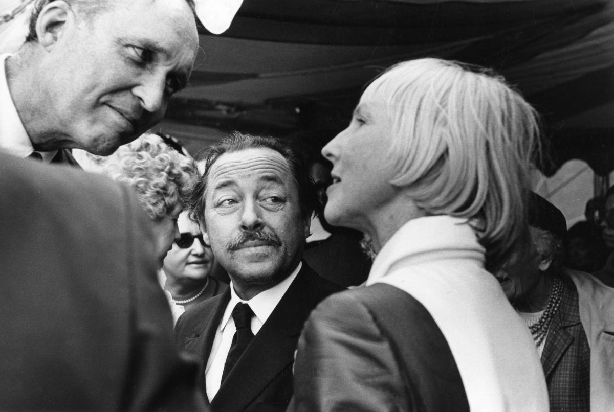 James Laughlin and Tennessee Williams talking with the poet-philanthropist Ruth Walgreen Stephan in 1969