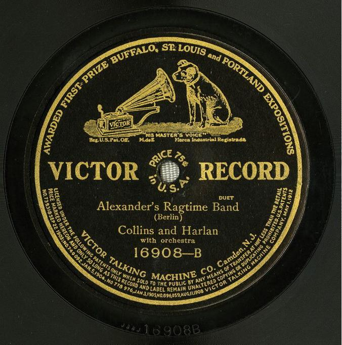 record label from Alexander's Ragtime Band