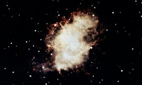 A color photo of the Crab Nebula