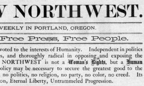 "Image of ""The New Northwest"" newspaper."