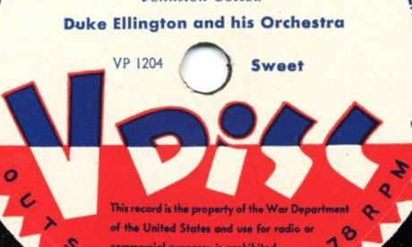 V-Disc label for Duke Ellington and his Orchestra