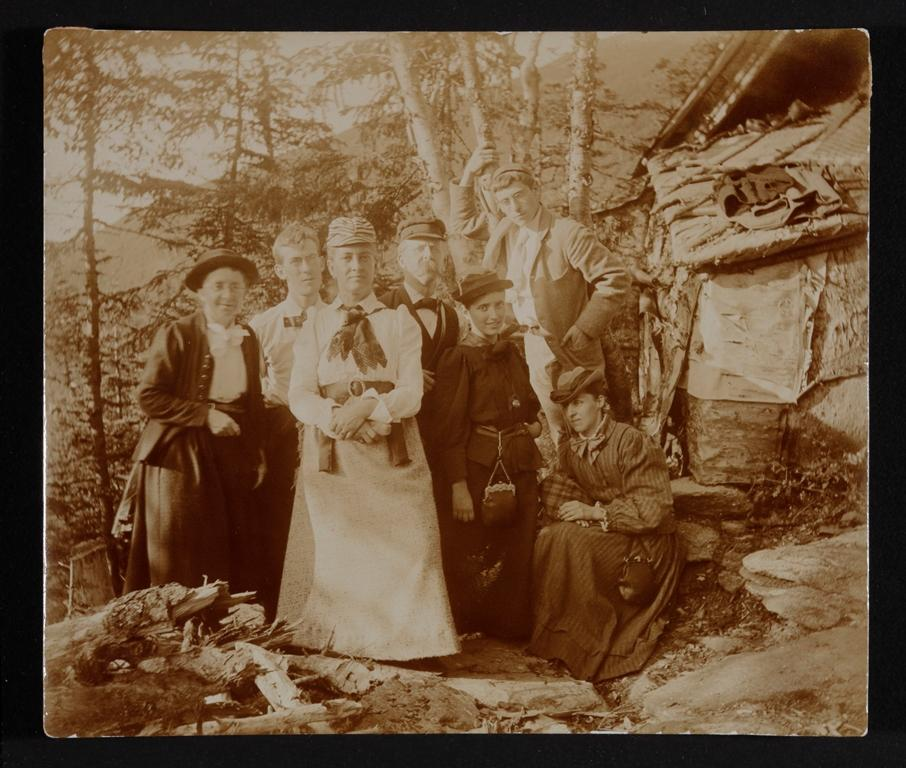 Party at the Perch Camp, Mount Adams,NH July 1893.