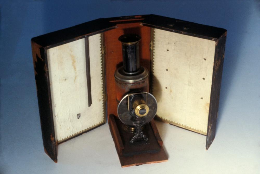 "Magic lantern, Jean Schonner ""Atlas"" Magic Lantern, 1880. Gift of Glenn Ralston."