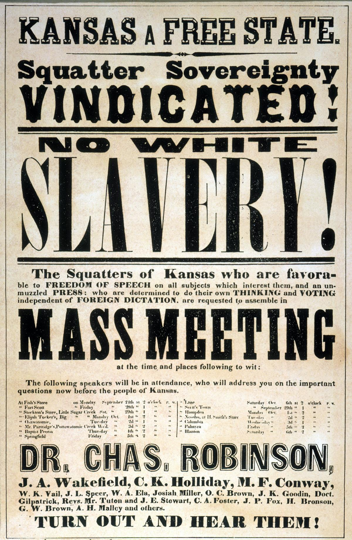 image of a poster advertising a meeting