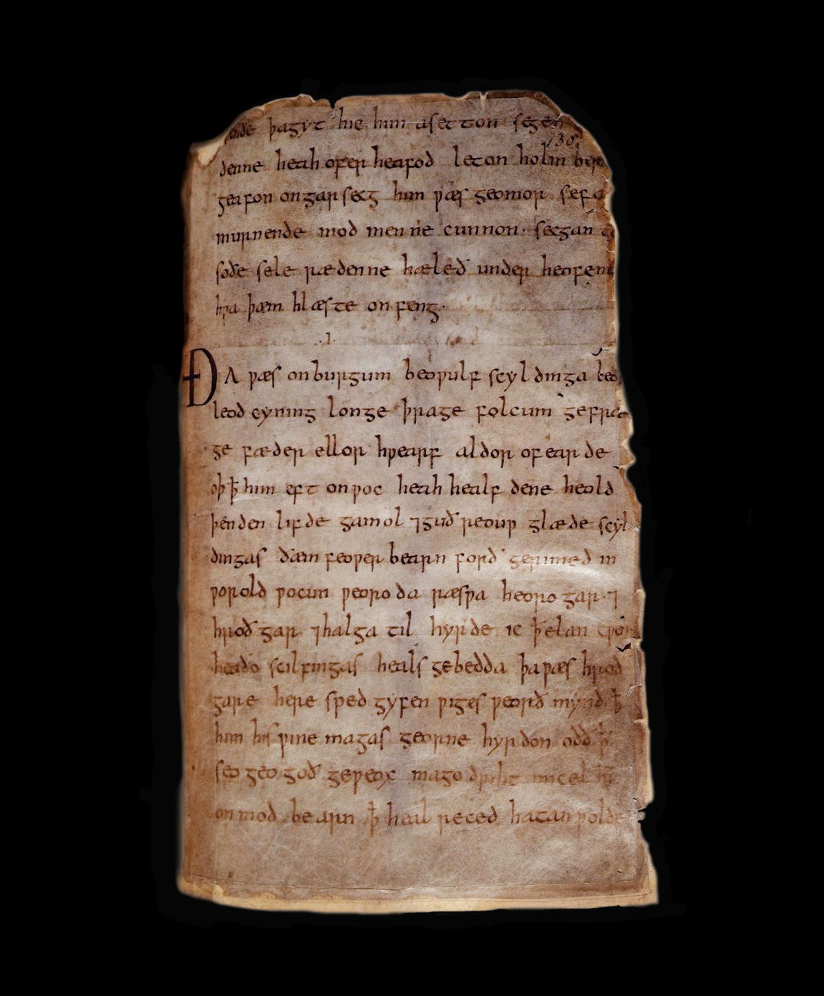 Beowulf manuscript page