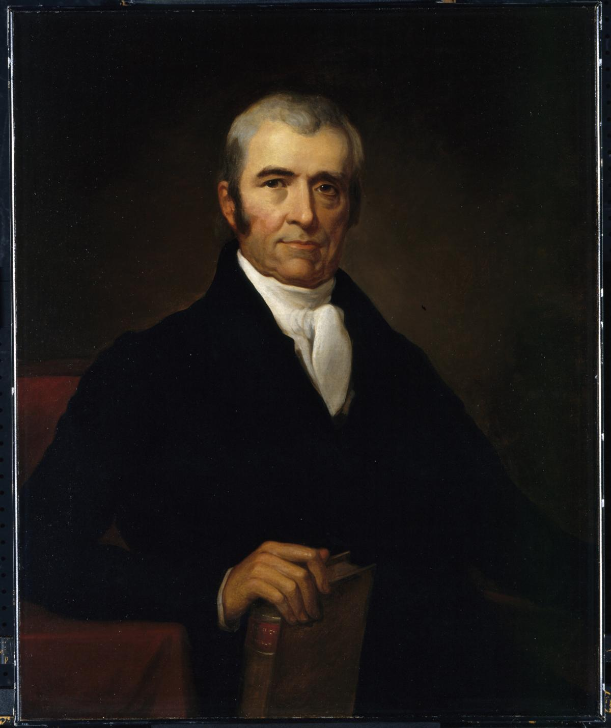 Oil painting portrait of John Marshall