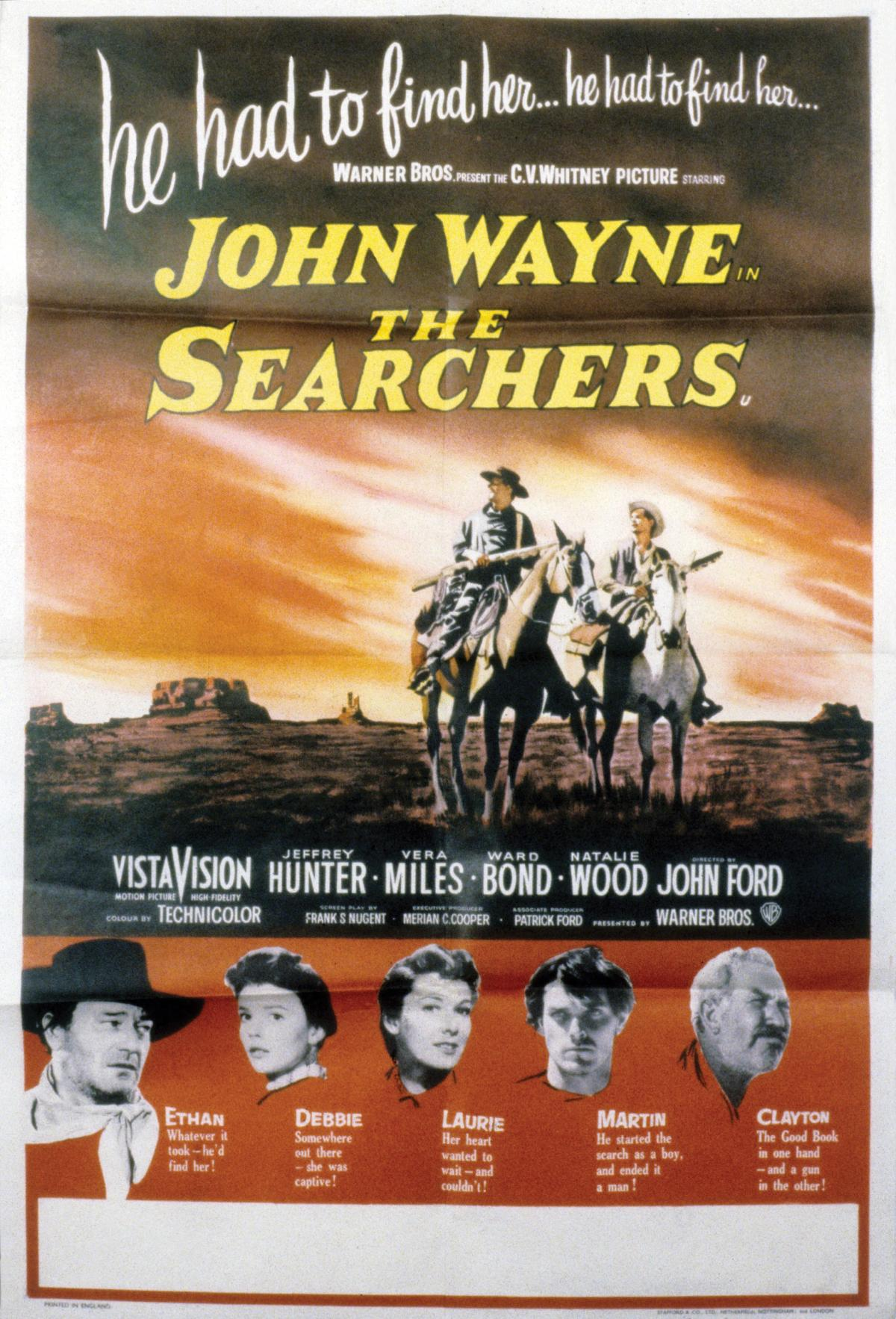 "Movie poster for ""The Searchers"""