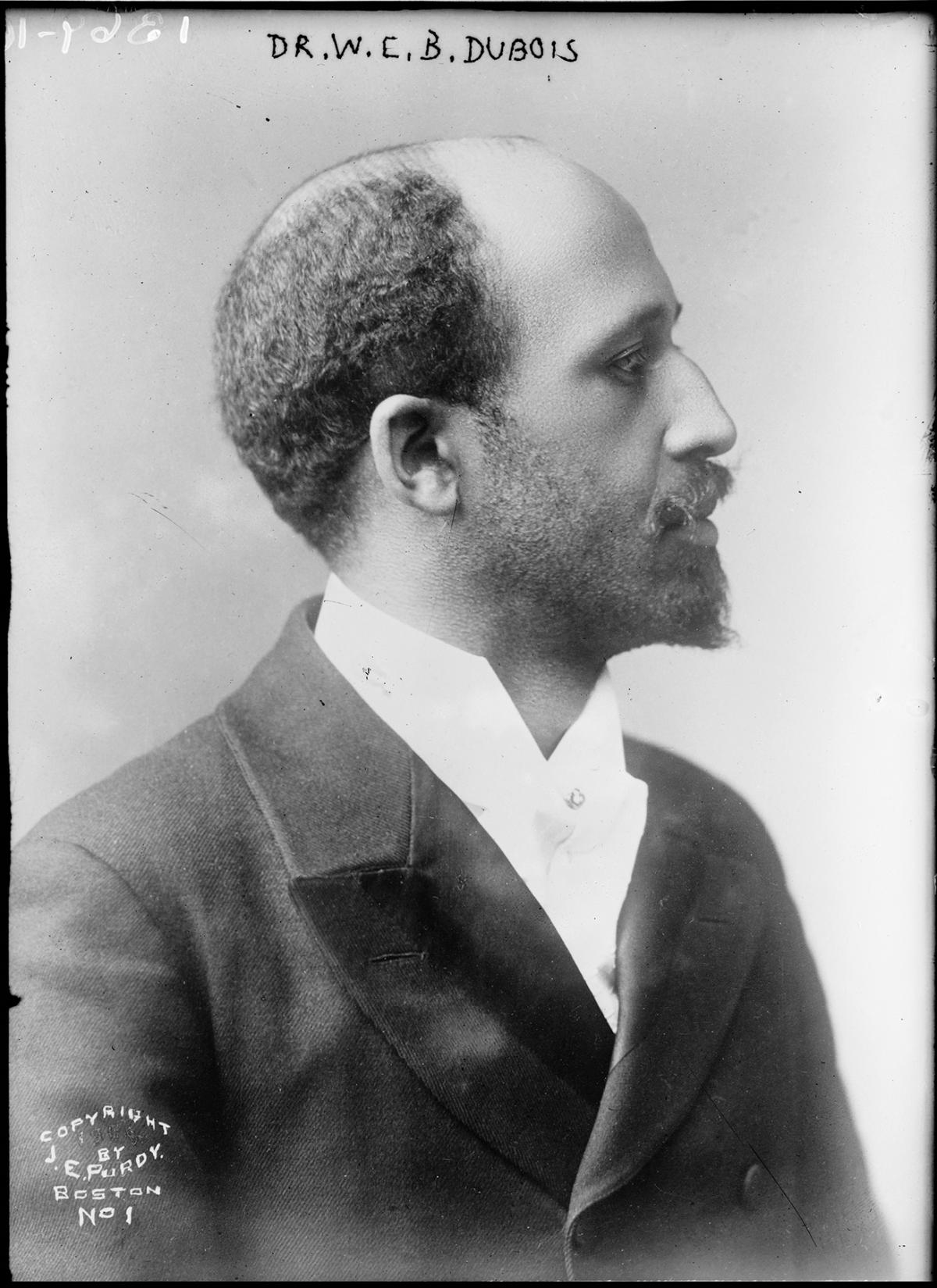 Photograph portrait of W.E.B. Du Bois in profile