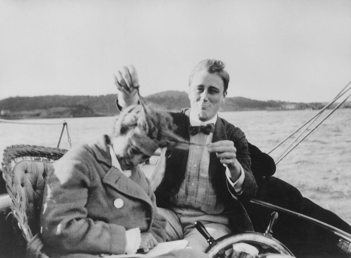 FDR playing with Eleanor's hair in Campobello