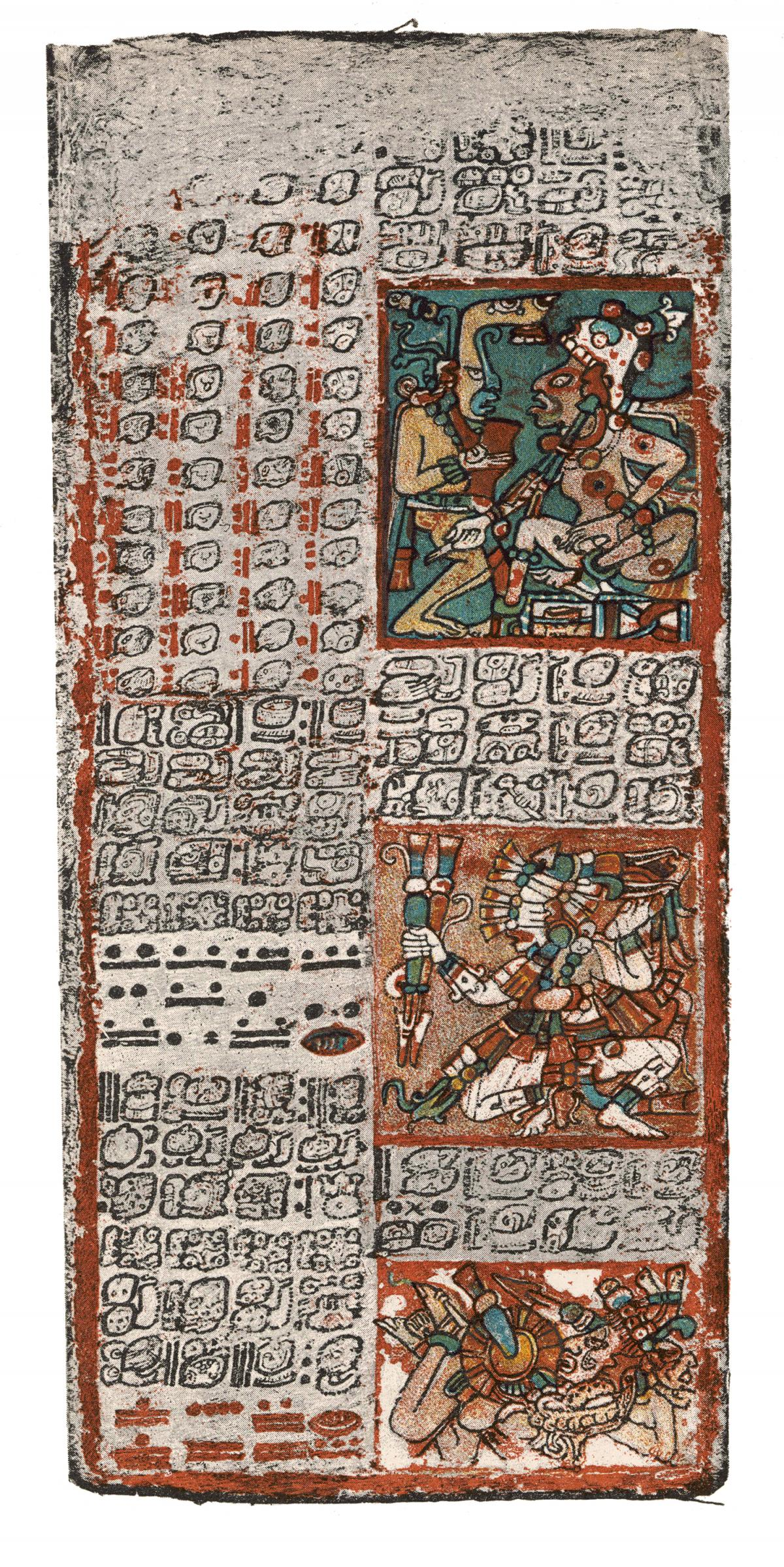 Another section of the Dresden Codex, depicting gods and demons