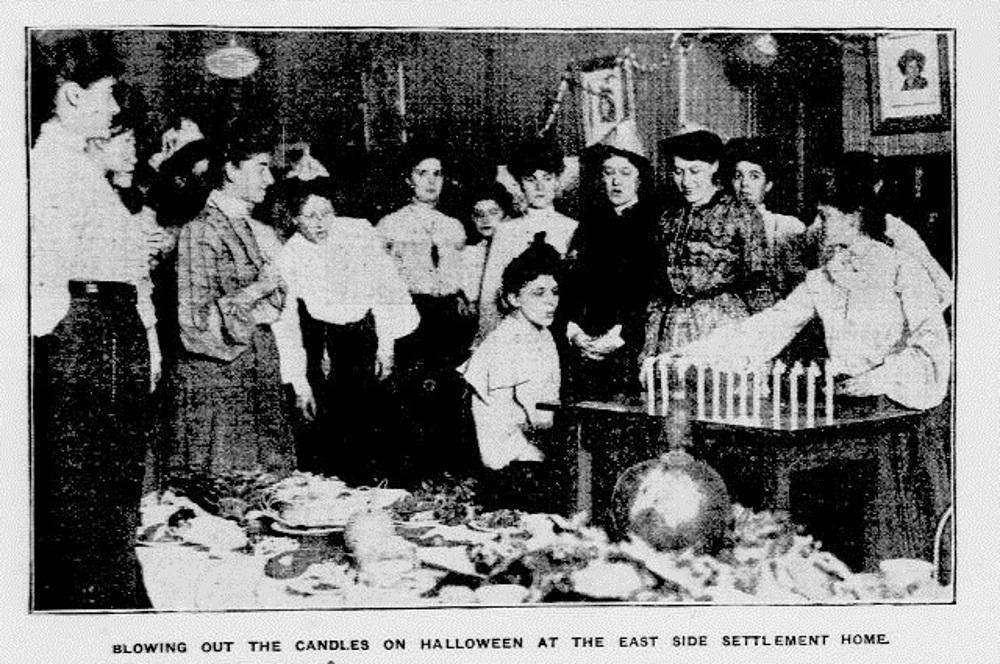 Blowing Out the Candles on Halloween at the East Side Settlement Home. New-York Tribune.