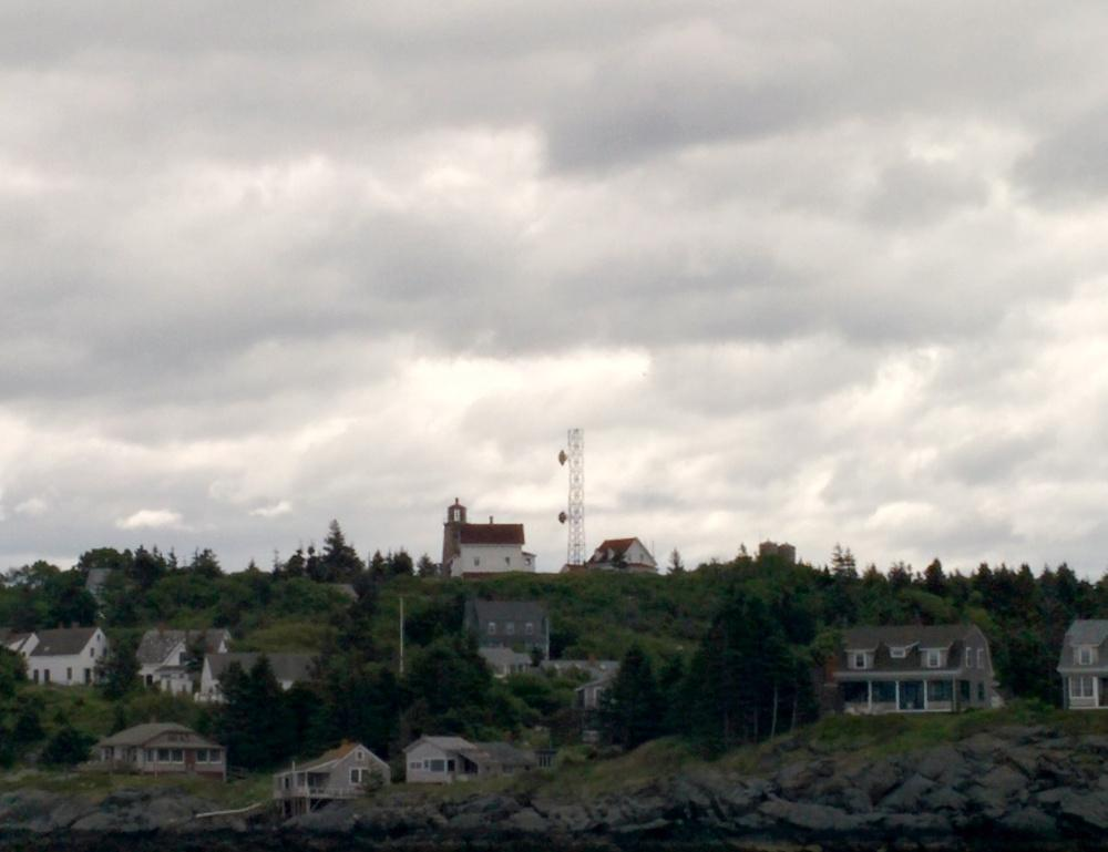 View of the Monhegan Historical and Cultural Museum and Lighthouse.