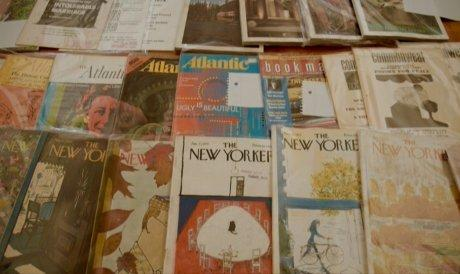 photo of a magazine collection