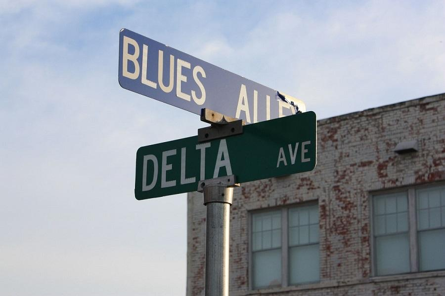 Street signs in Clarksdale, Mississippi