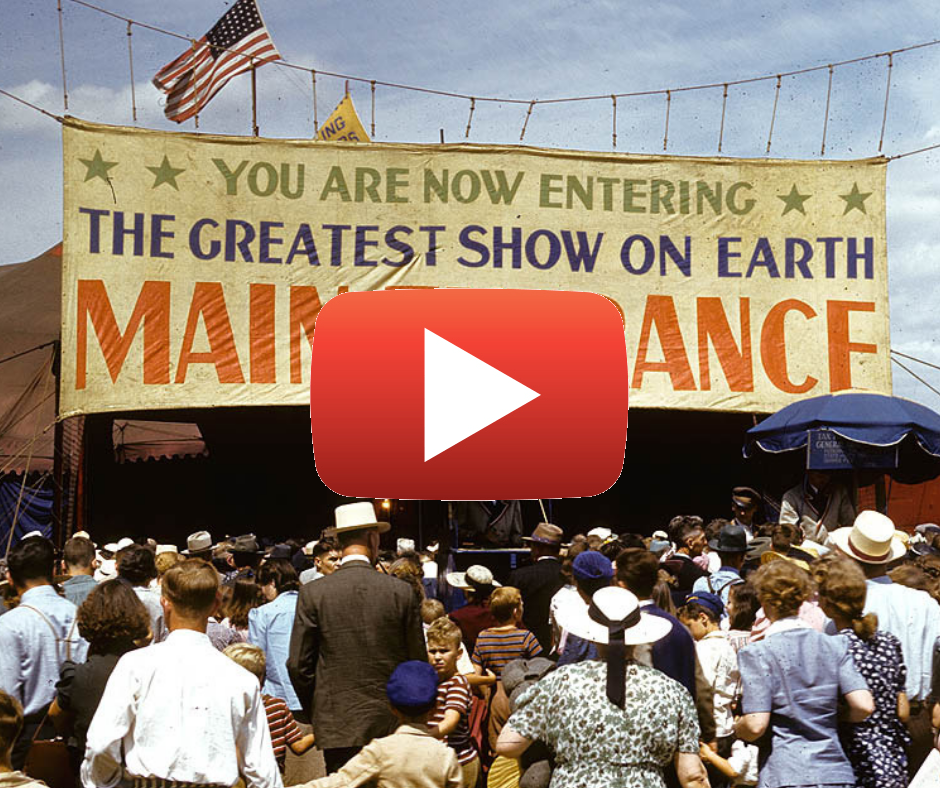 The greatest show on earth with play button