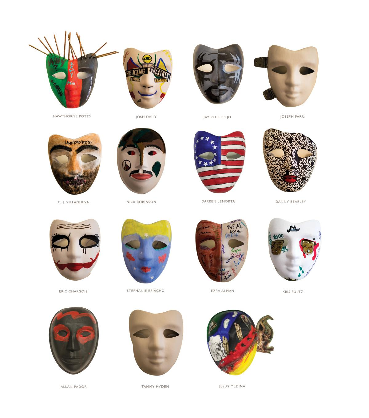 Masks made by veterans
