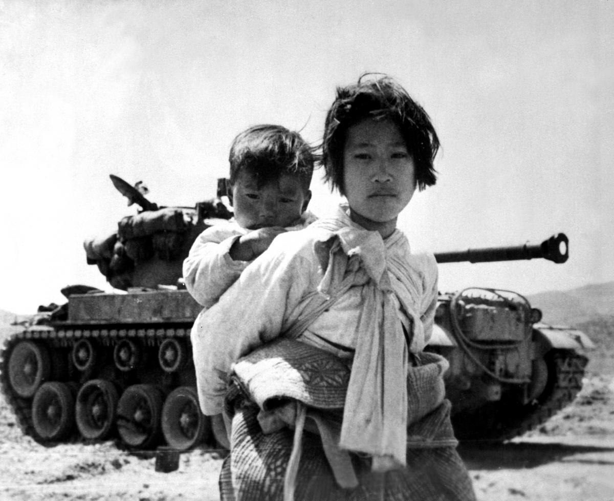 girl and tank