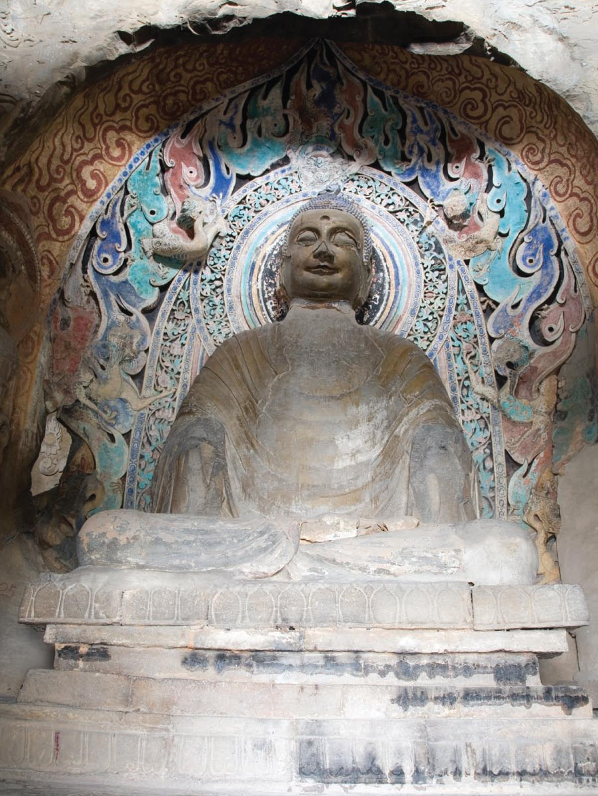 "Sculpture of the ""awakened"" Buddha"