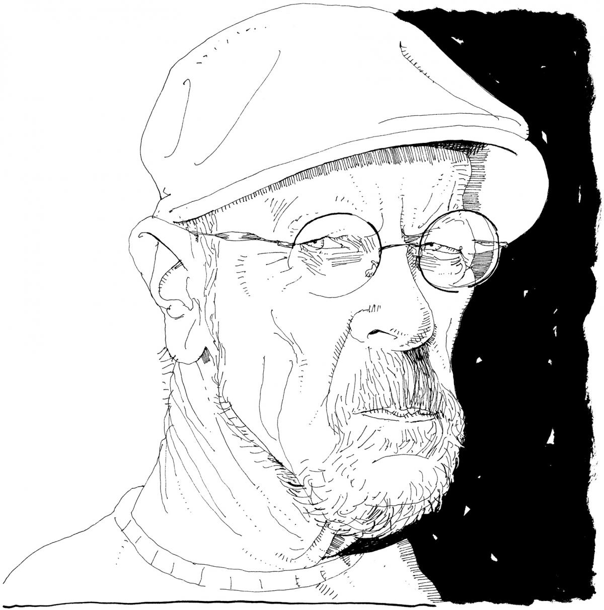 Illustration of Elmore Leonard