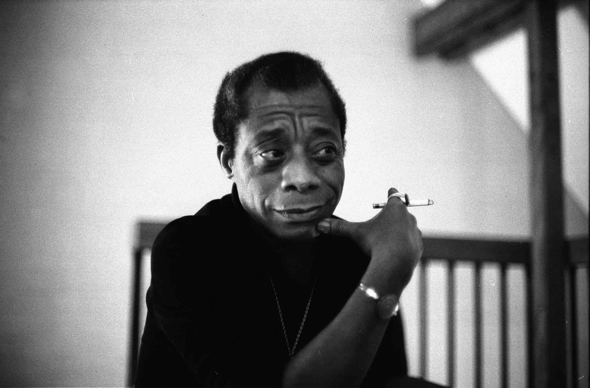 James Baldwin with a cigarette