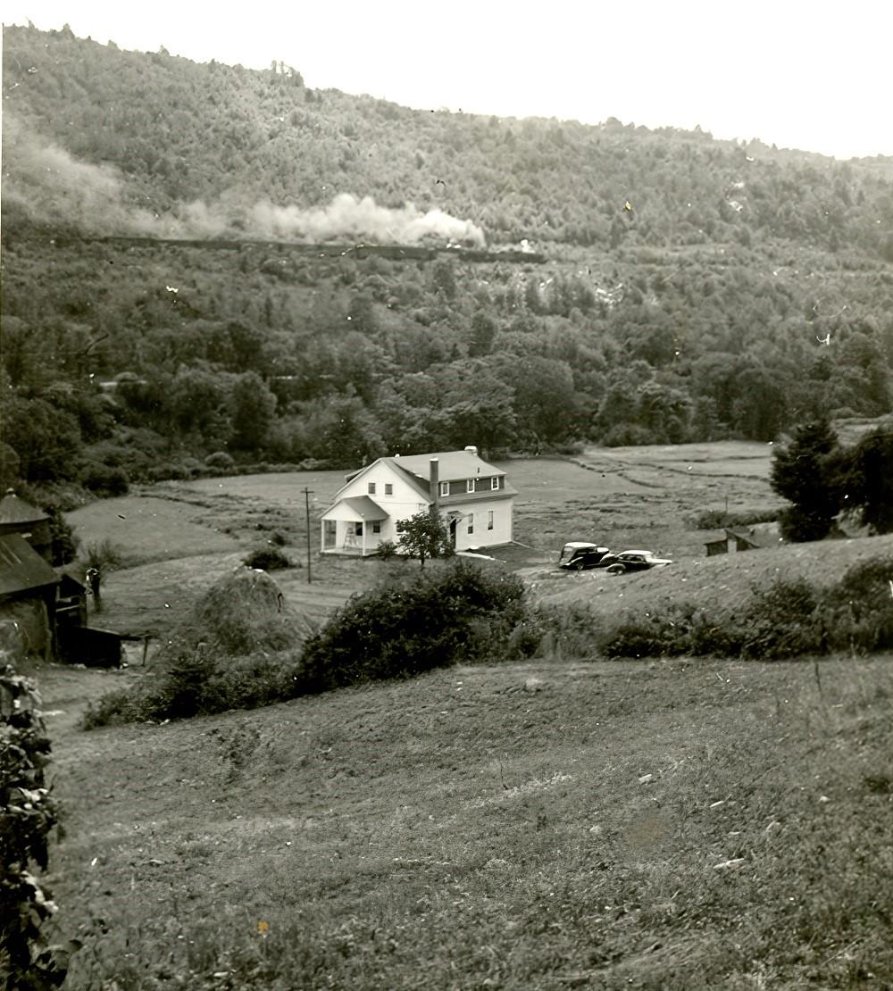 Historical photo of the northwest corner of the Dennis Farmhouse.