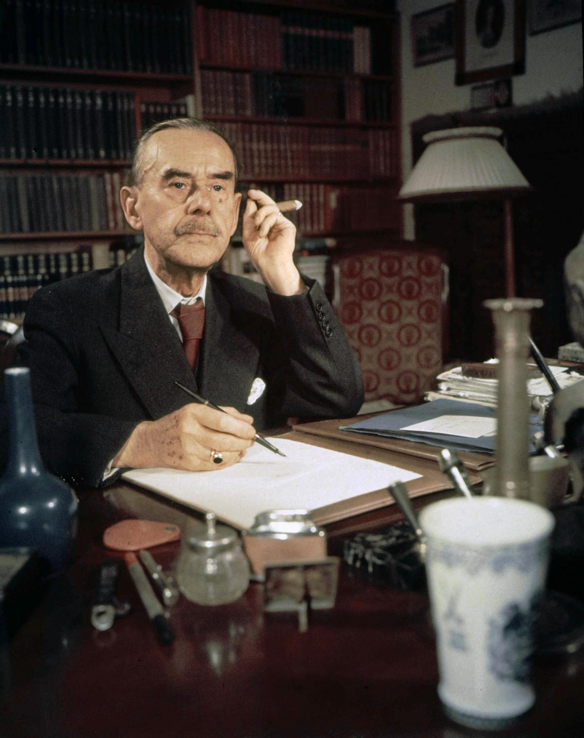 Thomas Mann at his desk