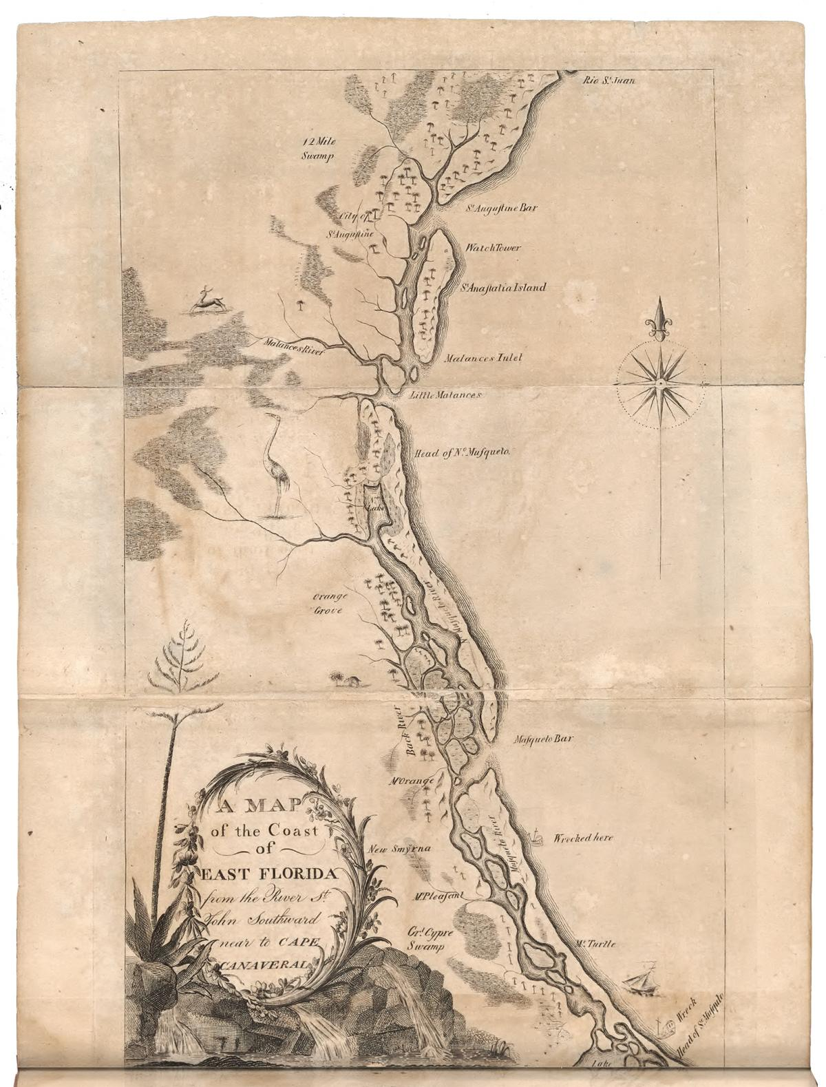 Florida map by Bartram