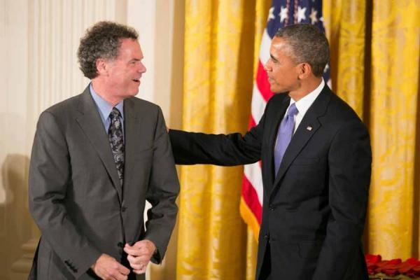 Edward L. Ayers and President Obama, National Humanities Medals