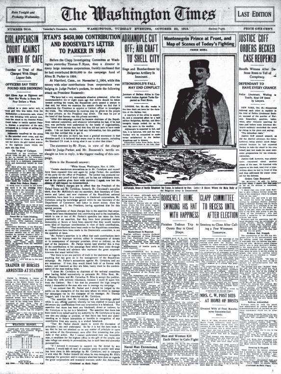 Washington Times October 22, 1912