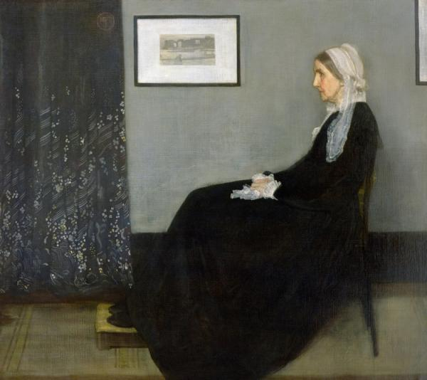 "James McNeill Whistler, ""Arrangement in Grey and Black No.1, Portrait of the Artist's Mother,"" 1871, oil on canvas, 144.3x162.5 cm; Musee d'Orsay, Paris, France"