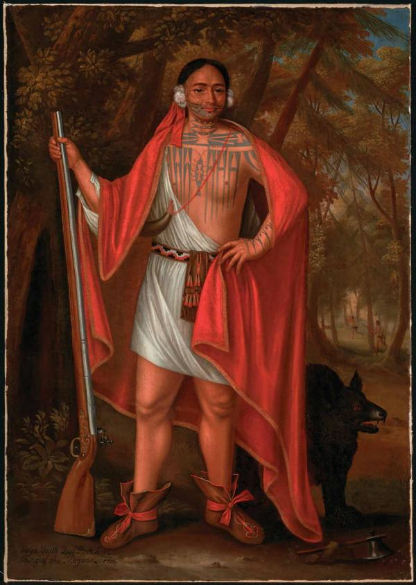 1710 painting by John Verelst of  Sa Ga Yeath Qua Pieth Tow