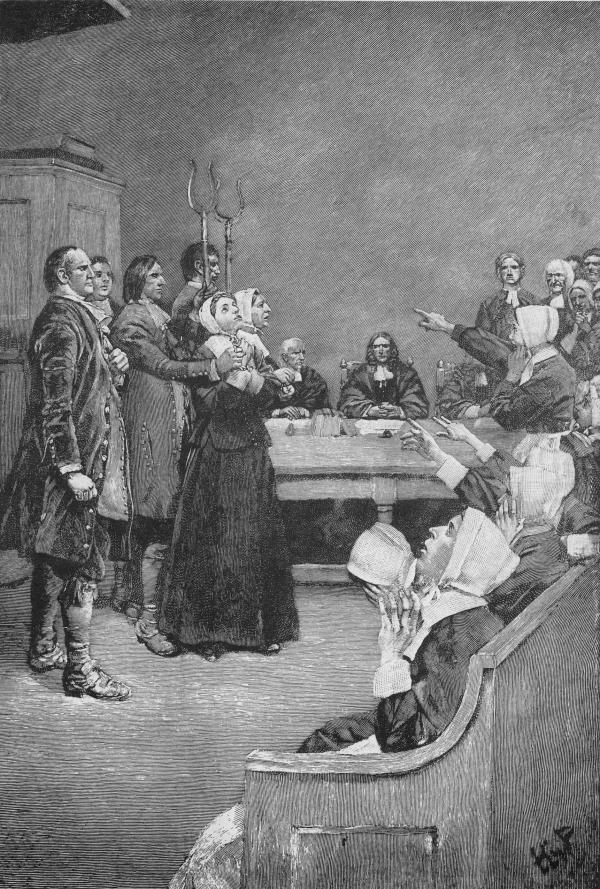 A nineteenth-century engraving by Howard Pyle of the Salem Witch Trials.